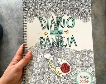 """Il """"Diario di una Pancia"""", diario della gravidanza, 46 pagine, formato A4"""