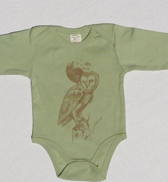 Organic Baby Clothes Boho esie Owl Fall baby boy baby