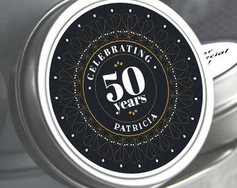 12 - 50th Birthday Mint Tin Favors - 50th Birthday Favors - 50th Birthday Ideas - 50th Birthday Mints - 50th Birthday - Birthday Favors