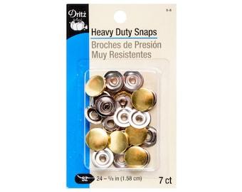 Heavy Duty: Gold capped snaps