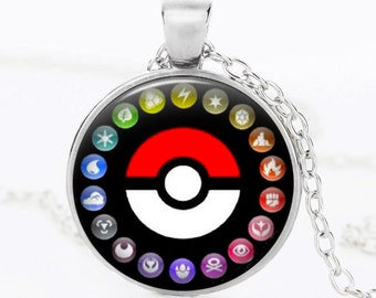 Pokemon Go Pendant Necklace, 3 Colors Available, Easy to Find
