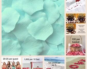 500 Icy Breeze Rose Petals - Artificial Rose Petals for Weddings