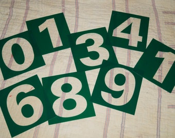 Plexiglass numbers sold as individual pieces