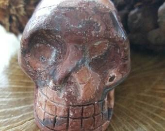 Bird's Eye Jasper Skull