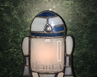 R2D2 stained glass nightlight