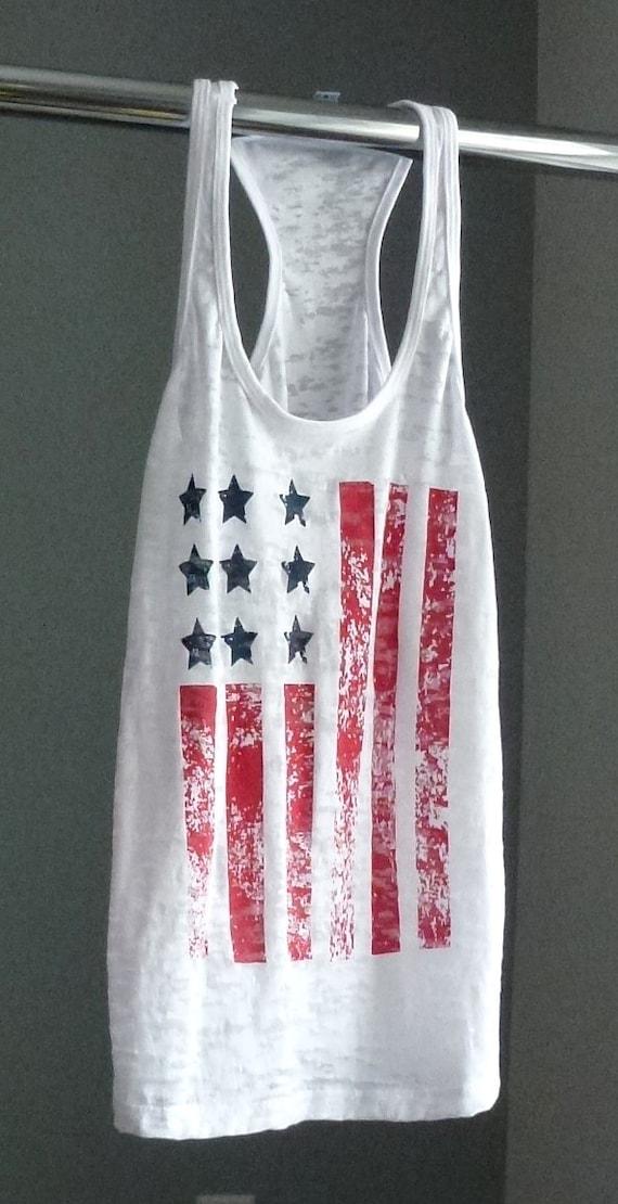 American Flag Tank Top Patriotic Shirt Exercise Tank 4th Of