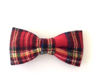 Red Plaid Bow Tie, Red Tartan Bow Tie, Bow Tie, Tartan Bow Tie, Red Bow Tie, Plaid Bow Tie, Christmas Bow Tie, Red and Yellow Bow Tie
