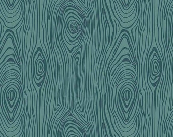 Knock on Wood by Riley Blake - Wood Teal - Cotton Woven Fabric