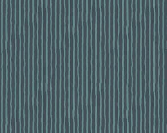 Knock on Wood by Riley Blake - Stripe Navy - Cotton Woven Fabric