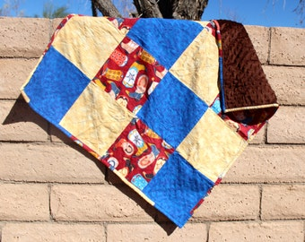 Western Baby Quilt with Minky