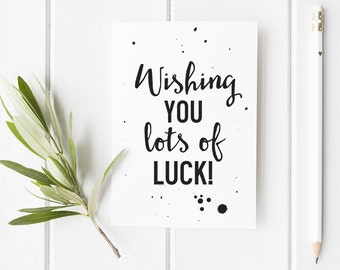 Good luck card | Etsy