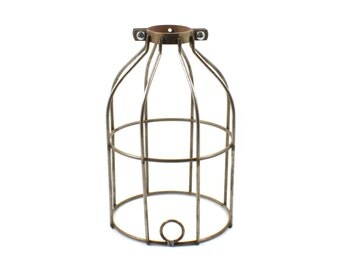 Raw Metal Bulb Cage