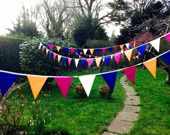 Wedding bunting per meter, Outdoor bunting, Long bunting/ banner,Long bunting,Garden party bunting, Garden bunting, Wedding bunting