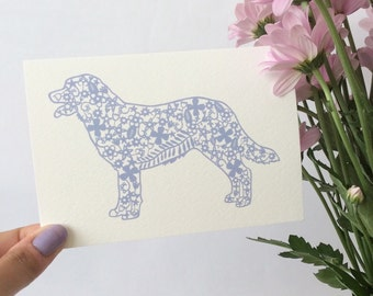 Dog Papercut Card