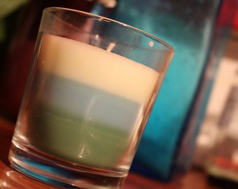 3 Tone Scented Glass Cup Candle