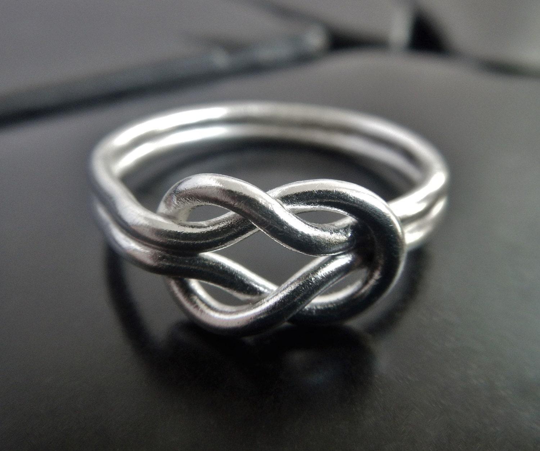 large sterling silver knot ring celtic knot ring love knot. Black Bedroom Furniture Sets. Home Design Ideas