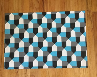 Hand painted floor cloth