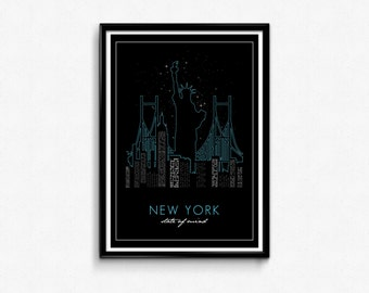 New York State of Mind typography poster