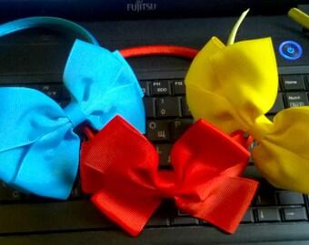 Headband Alice in Wonderland /Plastic ribbon covered headband with  bow/Hard headbands/satin headband/costume party/carnival