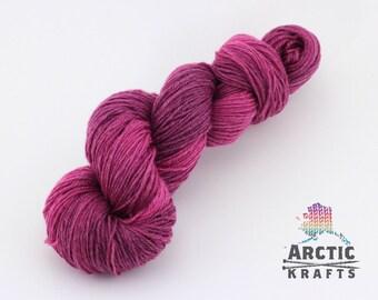 Mixed berry sorbet,Hand dyed superwash merino and nylon sock weight yarn 410 yards
