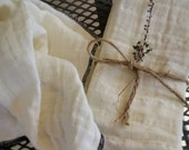 Three Straining Cloths for Infused Oils, Tinctures, Nut Milks