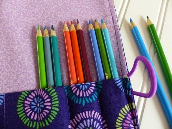 purple color pencil holder adult coloring colored pencil. Black Bedroom Furniture Sets. Home Design Ideas
