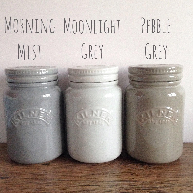 kilner ceramic storage jar in shades of grey. Black Bedroom Furniture Sets. Home Design Ideas