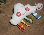 Cloud & Rainbow Sensory Baby Soft Handmade Taggy Toy Plushie Soothing Baby Toy