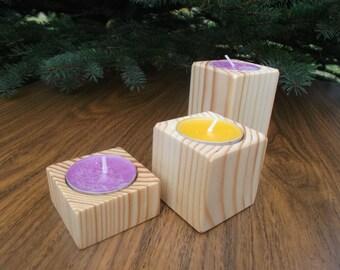 Wooden candleholder, Tealight holder, Wooden Candlestick, Candle stick, Wooden tealight holder, Home decor