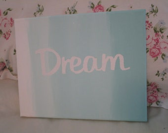 """canvas wall art saying """"DREAM"""" ombre"""