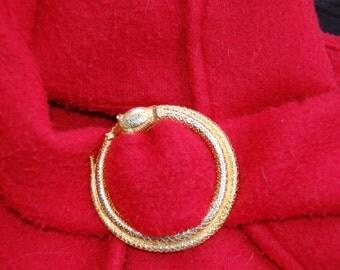 Gold Orobus Inspired Cloak Pin MTOICP005