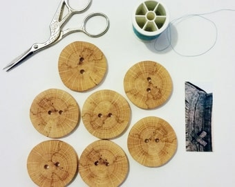 Large Handmade Wood Buttons - Tree branch Buttons / Hand crafted in the USA - Price per button