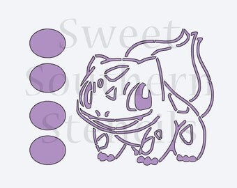 Cute Video Game/Cartoon Frog PYO Cookie Stencil