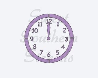 Midnight Clock Cookie Stencil