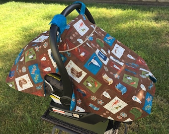 Baby Car Seat Cover = Baby Accessories - Baby Carrier Cover -Southwest Baby Car Seat Canopy-Covers and Wraps