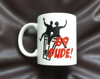 Hand Painted mug inspired by Bill and Ted's excellent adventure