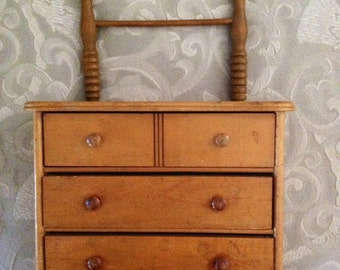 Antique Salesman Sample Washstand Dresser