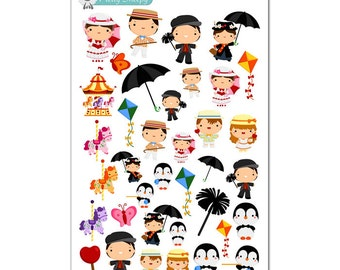 Mary Poppins Stickers - Disney Planner Stickers