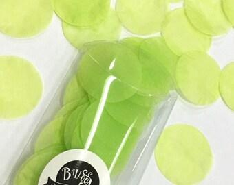 Jumbo Paper Confetti - Lime