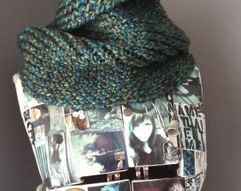 Earthbound Slouchy Hand Knit Cowl /Neck Warmer
