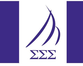 Sigma Sigma Sigma Flag - 3' X 5' Officially Approved