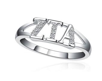 Zeta Tau Alpha Ring - Sterling Silver (ZTA-R001)