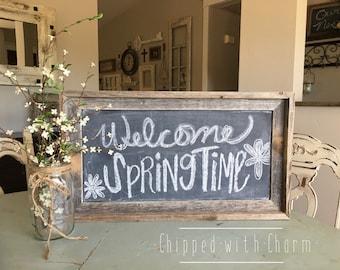 Rustic Barnwood Chalkboard, Reclaimed Wood Chalkboard,  Rustic Country Wedding
