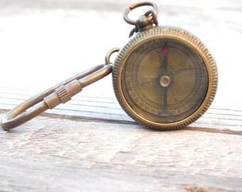 Custom Keychain, Personalized Keychain, Keychain Compass, Key ring, Compass Keychain, Engraved Keychain, Personalized Compass, Compass, Gift