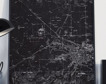 Helena, MT Map Poster 11x17 18x24