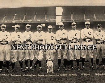 "1916 Cleveland Indians Baseball Team Vintage Panoramic Photograph 7"" x 28"" Long"