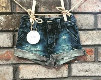 Sophia distressed denim shorts