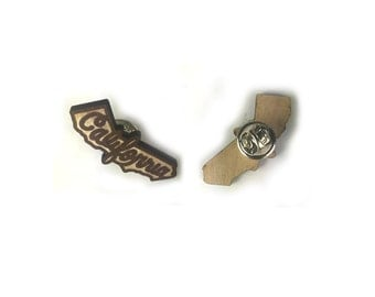 California Laser Cut Lapel Pin