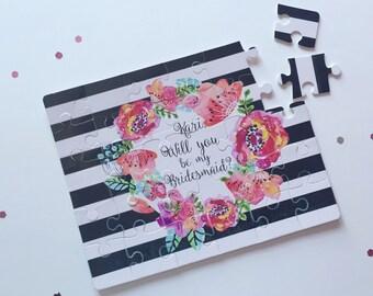Bridesmaid Proposal Puzzle | Will you be my Maid of Honor Bridesmaid | Bridal Party