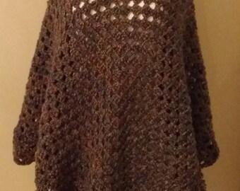 Martha Stewart Coming Home Poncho. Women's Poncho. Crochet Poncho. Several Colors Available.Spring Poncho.